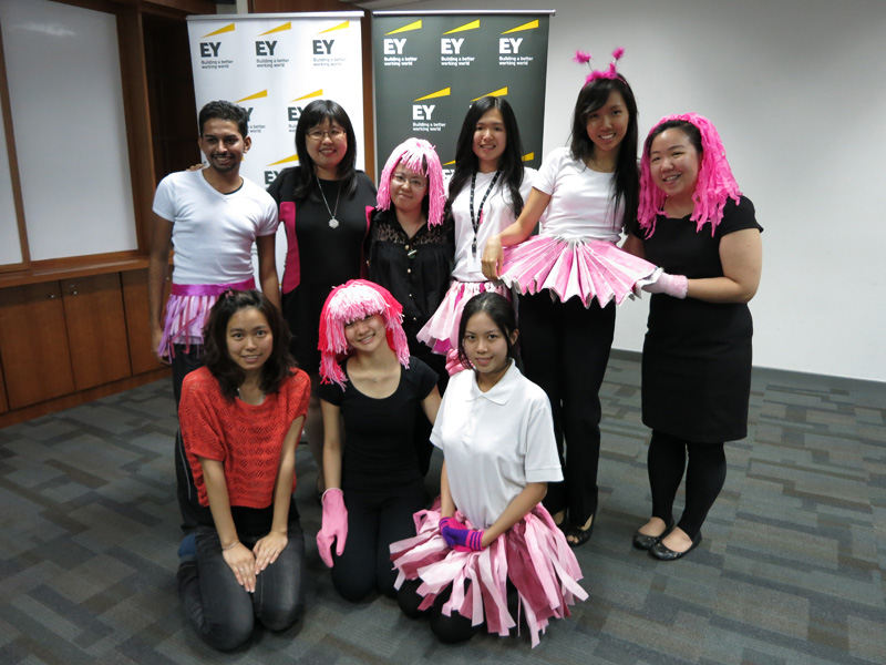 EY's Tax team named the winners of EY's Pink Glove Dance