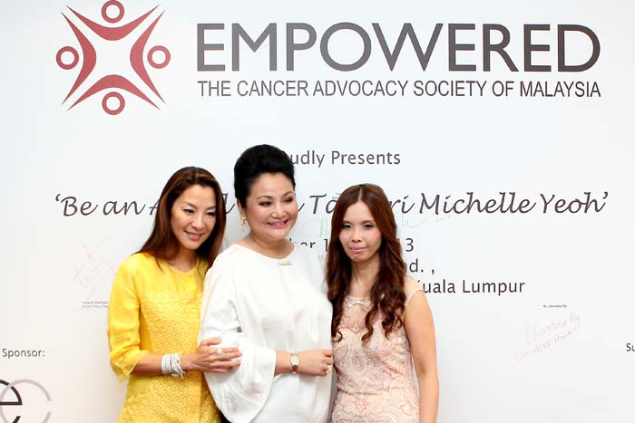 A happy moment in time recorded for the media event of 'Be an Angel with Tan Sri Michelle