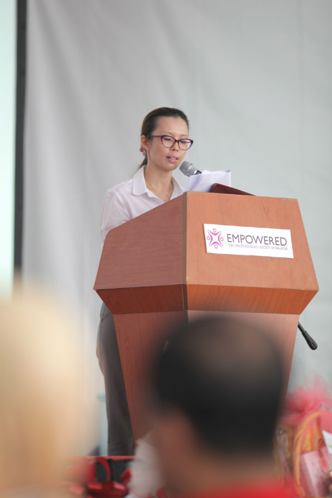 Dr. Christina Ng, President and Founder of EMPOWERED giving her opening speech